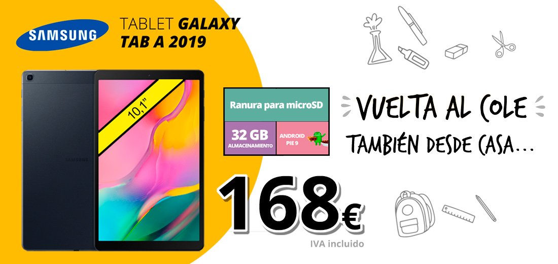 Oferta Tablet Galaxy TAB A 2019